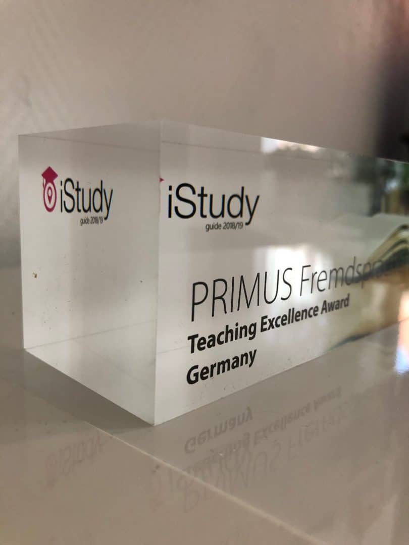 iStudy Award für primus fremdsprachen