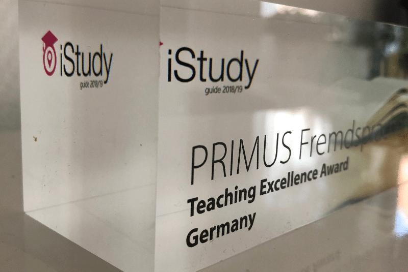 primus fremdsprachen iStudy-Award