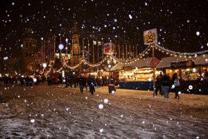 Weihnachtszeit im Schnee